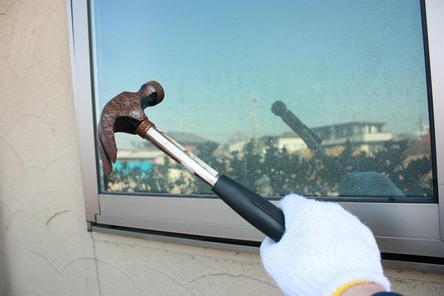 窓ガラスは空き巣に狙われる