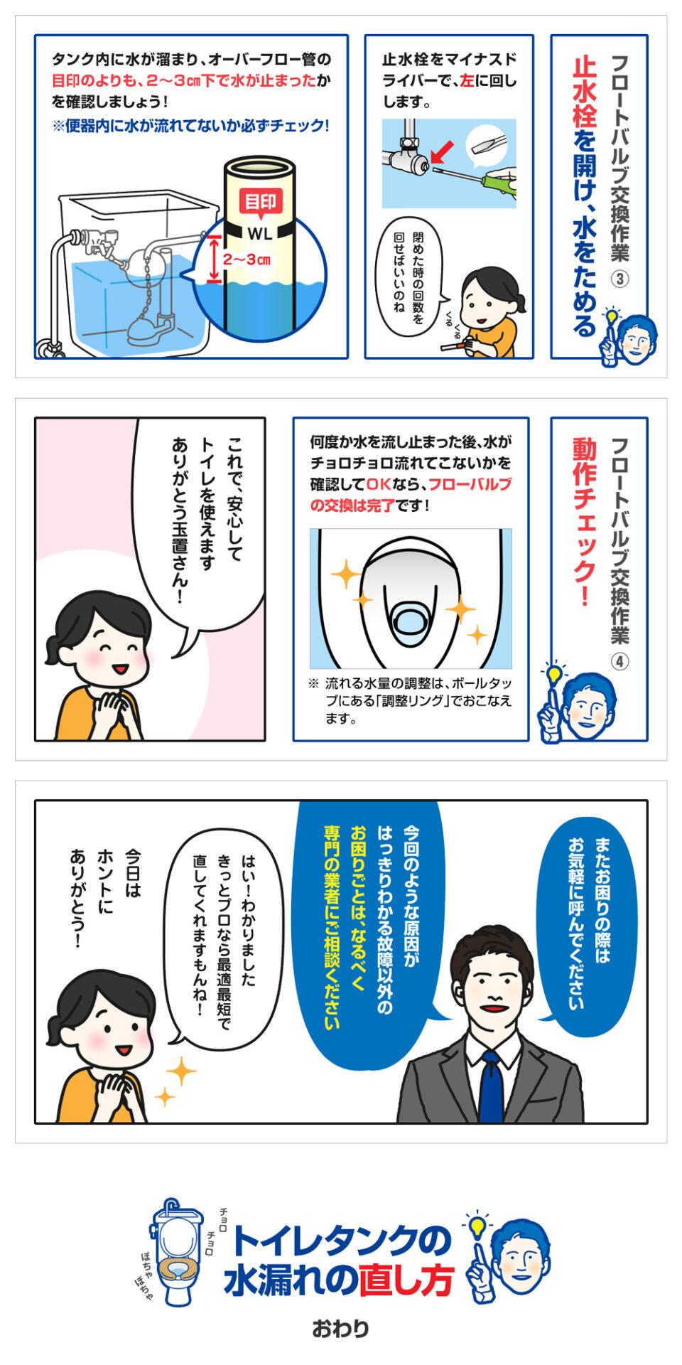 トイレタンクの水漏れ修理方法-10