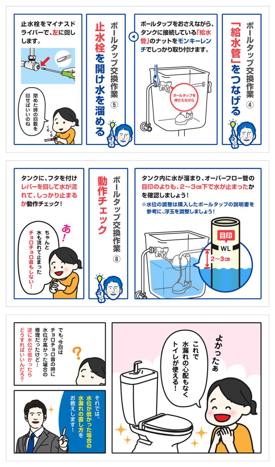 トイレタンクの水漏れ修理方法-7