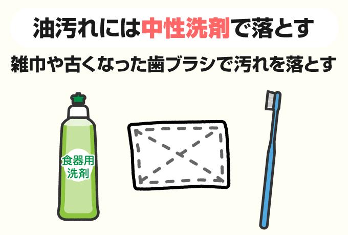 中性洗剤で掃除