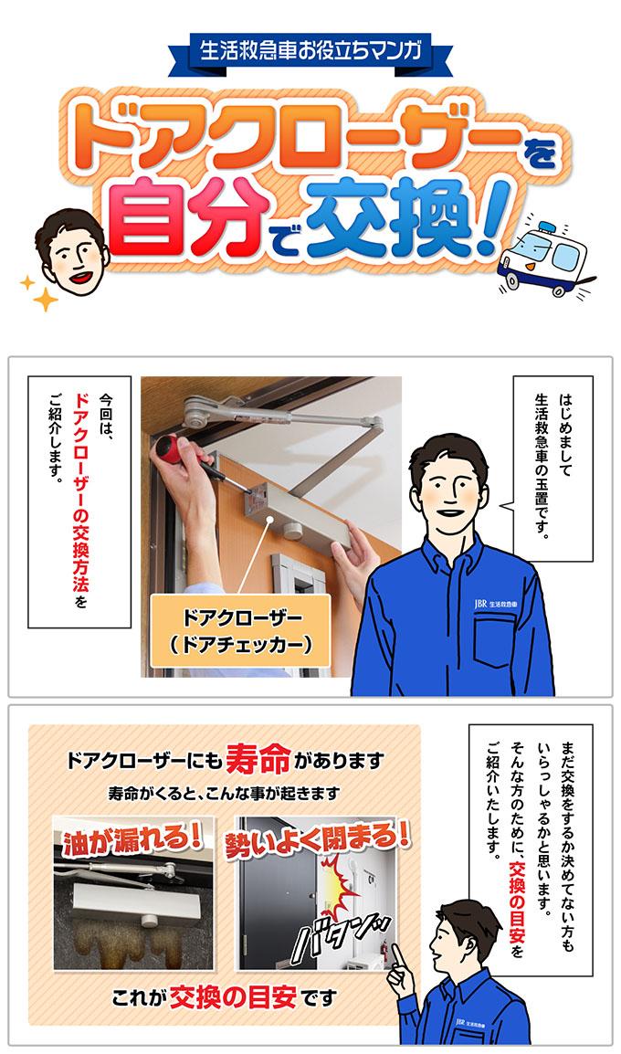ドアクローザーの交換方法-1