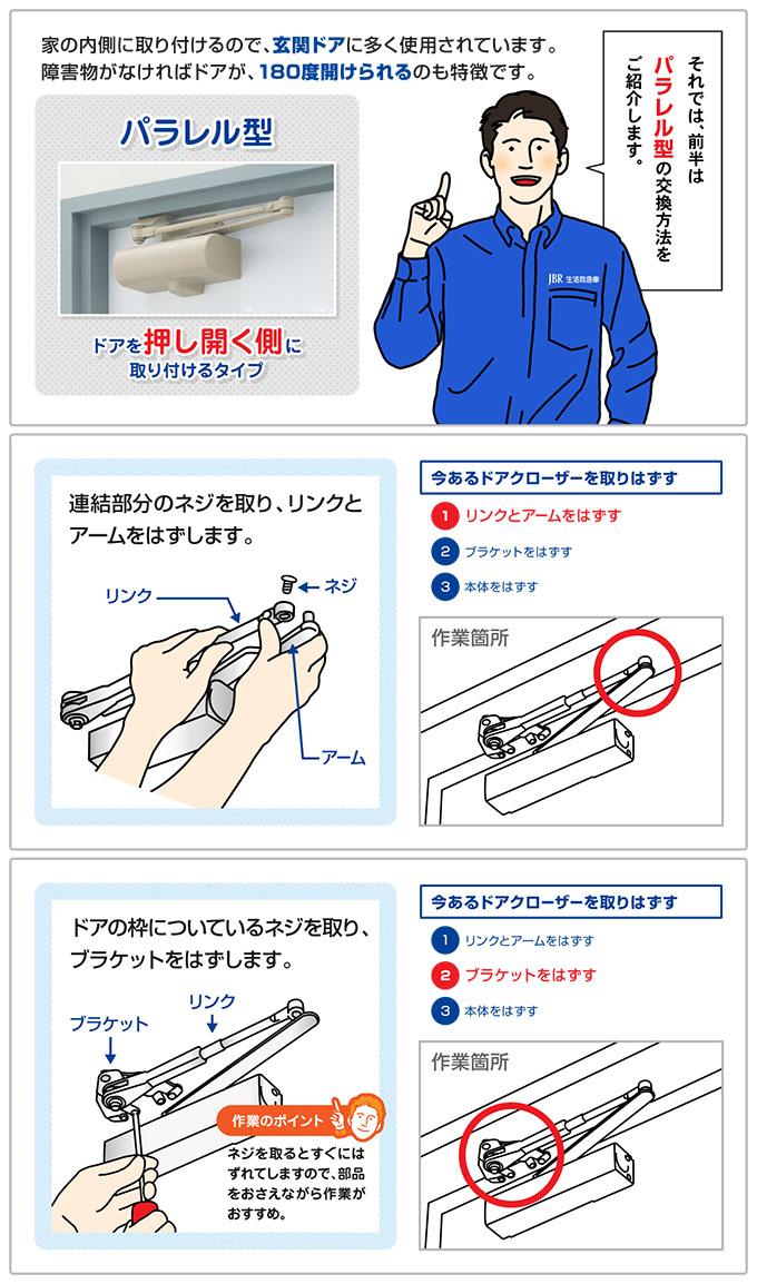 ドアクローザーの交換方法-4