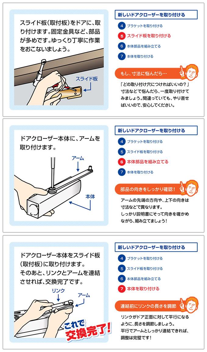 ドアクローザーの交換方法-6