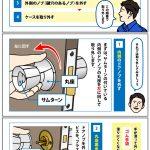 室内ドア・勝手口の鍵交換方法 インテグラル錠編⑥